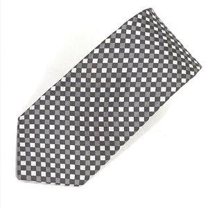 Donald J. Trump Checkered Gray & White Tie